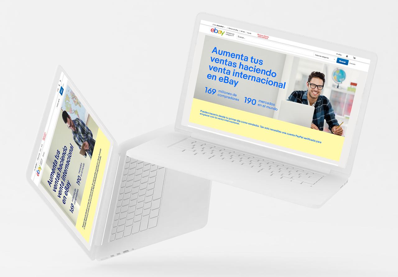eBay Spain – Landing page